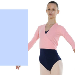 TAPPERS & POINTERS COTTON LYCRA BALLET WRAP Knitwear Tappers and Pointers Pale Blue 00 (Age 2-3)