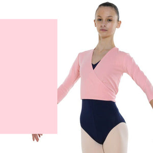 TAPPERS & POINTERS COTTON LYCRA BALLET WRAP Knitwear Tappers and Pointers Pale Pink 00 (Age 2-3)