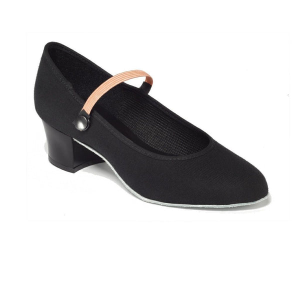 TAPPERS & POINTERS CUBAN HEEL CANVAS CHARACTER SHOES Dance Shoes Tappers and Pointers Black Size 1