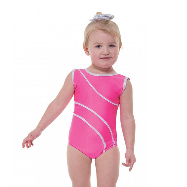 TAPPERS & POINTERS DEL/1 SLEEVELESS LEOTARD - LIPSTICK PINK SIZE 0 Dancewear Tappers and Pointers Lipstick 0 (Age 4-5)
