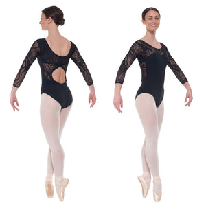 TAPPERS & POINTERS ELE/1 CROSS OVER BACK LACE LEOTARD Dancewear Tappers and Pointers