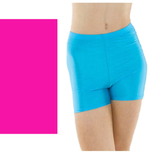 TAPPERS & POINTERS HOTPANTS Dancewear Tappers and Pointers Fluorescent Pink 1 (Age 6-8)