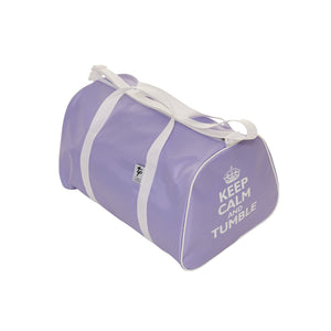 TAPPERS & POINTERS KEEP CALM AND TUMBLE HOLDALL Bags & Holdalls Tappers and Pointers Lilac