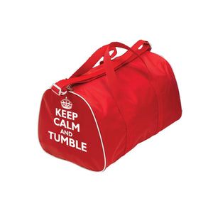 TAPPERS & POINTERS KEEP CALM AND TUMBLE HOLDALL Bags & Holdalls Tappers and Pointers Red