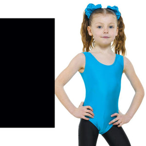 TAPPERS & POINTERS LEO1 SLEEVELESS PLAIN FRONT LEOTARD Dancewear Tappers and Pointers Black 00 (Age 2-3)