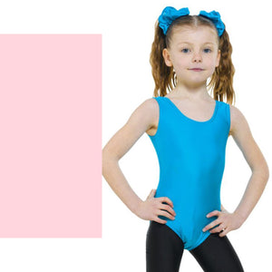 TAPPERS & POINTERS LEO1 SLEEVELESS PLAIN FRONT LEOTARD Dancewear Tappers and Pointers Pale Pink 00 (Age 2-3)