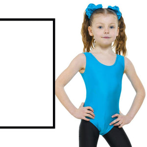 TAPPERS & POINTERS LEO1 SLEEVELESS PLAIN FRONT LEOTARD Dancewear Tappers and Pointers White 00 (Age 2-3)