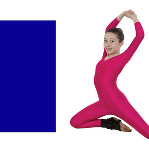 TAPPERS & POINTERS LONG SLEEVE CATSUIT Dancewear Tappers and Pointers Royal Blue 1 (Age 6-8)