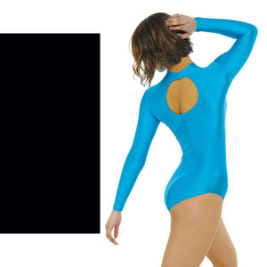TAPPERS & POINTERS LONG SLEEVE POLO NECK LEOTARD Dancewear Tappers and Pointers Black 0 (Age 4-5)