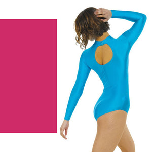 TAPPERS & POINTERS LONG SLEEVE POLO NECK LEOTARD Dancewear Tappers and Pointers Cerise 0 (Age 4-5)