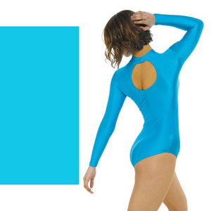 TAPPERS & POINTERS LONG SLEEVE POLO NECK LEOTARD Dancewear Tappers and Pointers Kingfisher 0 (Age 4-5)