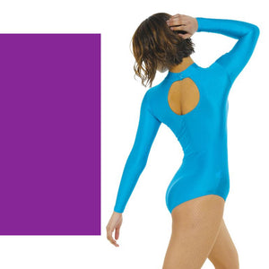TAPPERS & POINTERS LONG SLEEVE POLO NECK LEOTARD Dancewear Tappers and Pointers Purple 0 (Age 4-5)