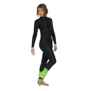 TAPPERS & POINTERS LONG SLEEVED TURTLE NECK CATSUIT Dancewear Tappers and Pointers