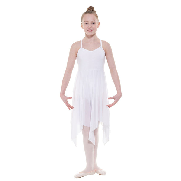 TAPPERS & POINTERS LYRICAL/1 CAMISOLE LYRICAL DRESS Dancewear Tappers and Pointers White 1 (Age 6-8)