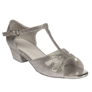TAPPERS & POINTERS MILLIE SILVER SPARKLE BALLROOM SHOES Ballroom Shoes Tappers and Pointers