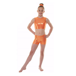 TAPPERS & POINTERS SHINE HIPSTER MICRO SHORTS Dancewear Tappers and Pointers Amber Shine 0 (Age 4-5)
