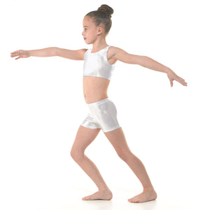 TAPPERS & POINTERS SHINE HIPSTER MICRO SHORTS Dancewear Tappers and Pointers Platinum Shine 0 (Age 4-5)