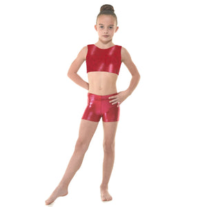 TAPPERS & POINTERS SHINE HIPSTER MICRO SHORTS Dancewear Tappers and Pointers Pomegranate Shine 0 (Age 4-5)