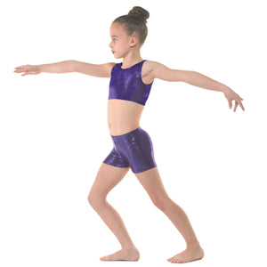 TAPPERS & POINTERS SHINE HIPSTER MICRO SHORTS Dancewear Tappers and Pointers Sugar Plum Shine 0 (Age 4-5)