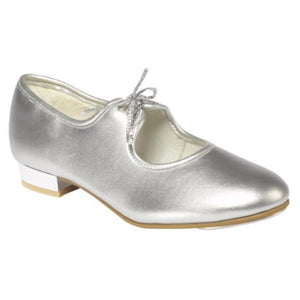 TAPPERS & POINTERS SILVER LOW HEEL TAP DANCE SHOES Dance Shoes Tappers and Pointers