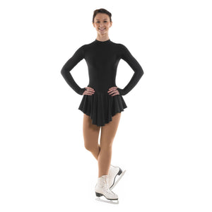 TAPPERS & POINTERS SKATE/1 LYCRA ICE SKATING DANCE DRESS Ice Skating Tappers and Pointers Black 0 (Age 4-5)