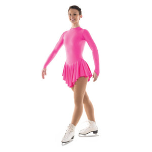 TAPPERS & POINTERS SKATE/1 LYCRA ICE SKATING DANCE DRESS Ice Skating Tappers and Pointers Lipstick Pink 0 (Age 4-5)
