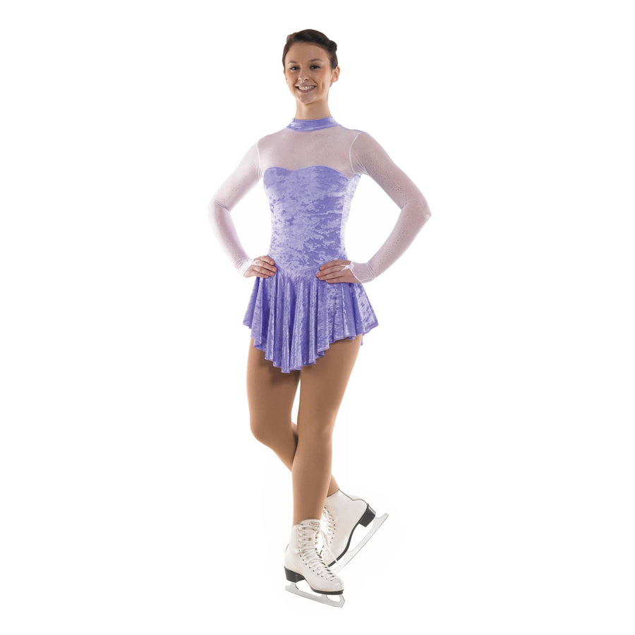 TAPPERS & POINTERS SKATE/3 CRUSHED VELOUR SKATING DRESS Ice Skating Tappers and Pointers