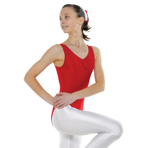 TAPPERS & POINTERS SLEEVELESS GATHERED FRONT LEOTARD Dancewear Tappers and Pointers