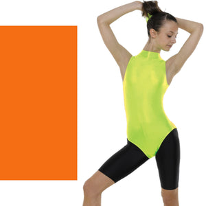 TAPPERS & POINTERS SLEEVELESS POLO NECK LEOTARD Dancewear Tappers and Pointers Flo Orange 0 (Age 4-5)