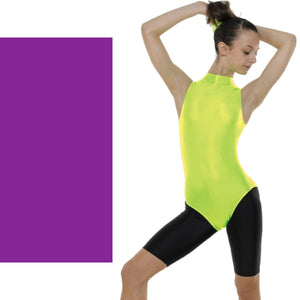 TAPPERS & POINTERS SLEEVELESS POLO NECK LEOTARD Dancewear Tappers and Pointers Purple 0 (Age 4-5)