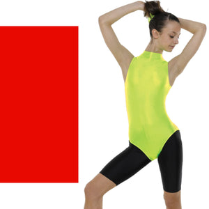 TAPPERS & POINTERS SLEEVELESS POLO NECK LEOTARD Dancewear Tappers and Pointers Red 0 (Age 4-5)