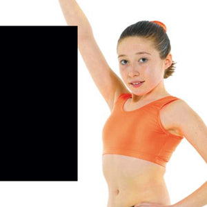 TAPPERS & POINTERS SLEEVELESS VEST CROP TOP Dancewear Tappers and Pointers Black 0 (Age 4-5)