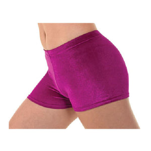 TAPPERS & POINTERS SMOOTH VELVET HIPSTER MICRO SHORTS Dancewear Tappers and Pointers Cerise Velvet 0 (Age 4-5)