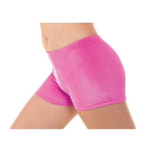 TAPPERS & POINTERS SMOOTH VELVET HIPSTER MICRO SHORTS Dancewear Tappers and Pointers Electric Pink Velvet 0 (Age 4-5)