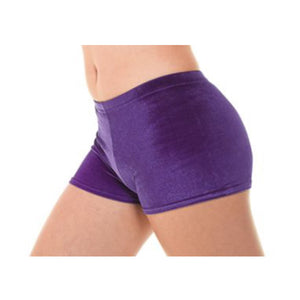 TAPPERS & POINTERS SMOOTH VELVET HIPSTER MICRO SHORTS Dancewear Tappers and Pointers Grape Velvet 0 (Age 4-5)