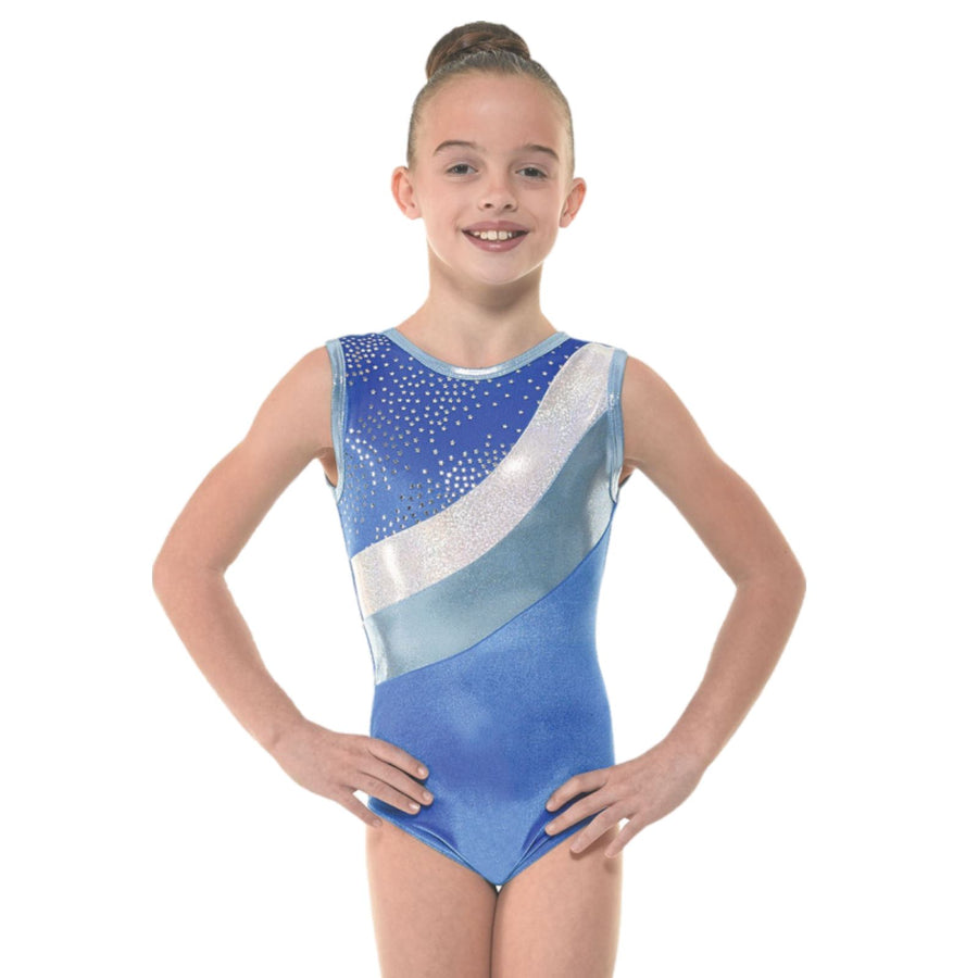 TAPPERS & POINTERS SMOOTH VELVET WITH METALLIC FOIL & SHINE GYMNASTIC LEOTARD Gymnastics Tappers and Pointers Pink Smooth Velvet 0 (Age 4-5) Sleeveless