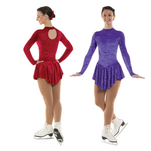 TAPPERS & POINTERS VELOUR ICE SKATING DANCE DRESS Ice Skating Tappers and Pointers