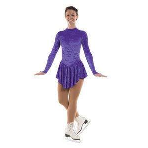 TAPPERS & POINTERS VELOUR ICE SKATING DANCE DRESS Ice Skating Tappers and Pointers Purple Velour 0 (Age 4-5)