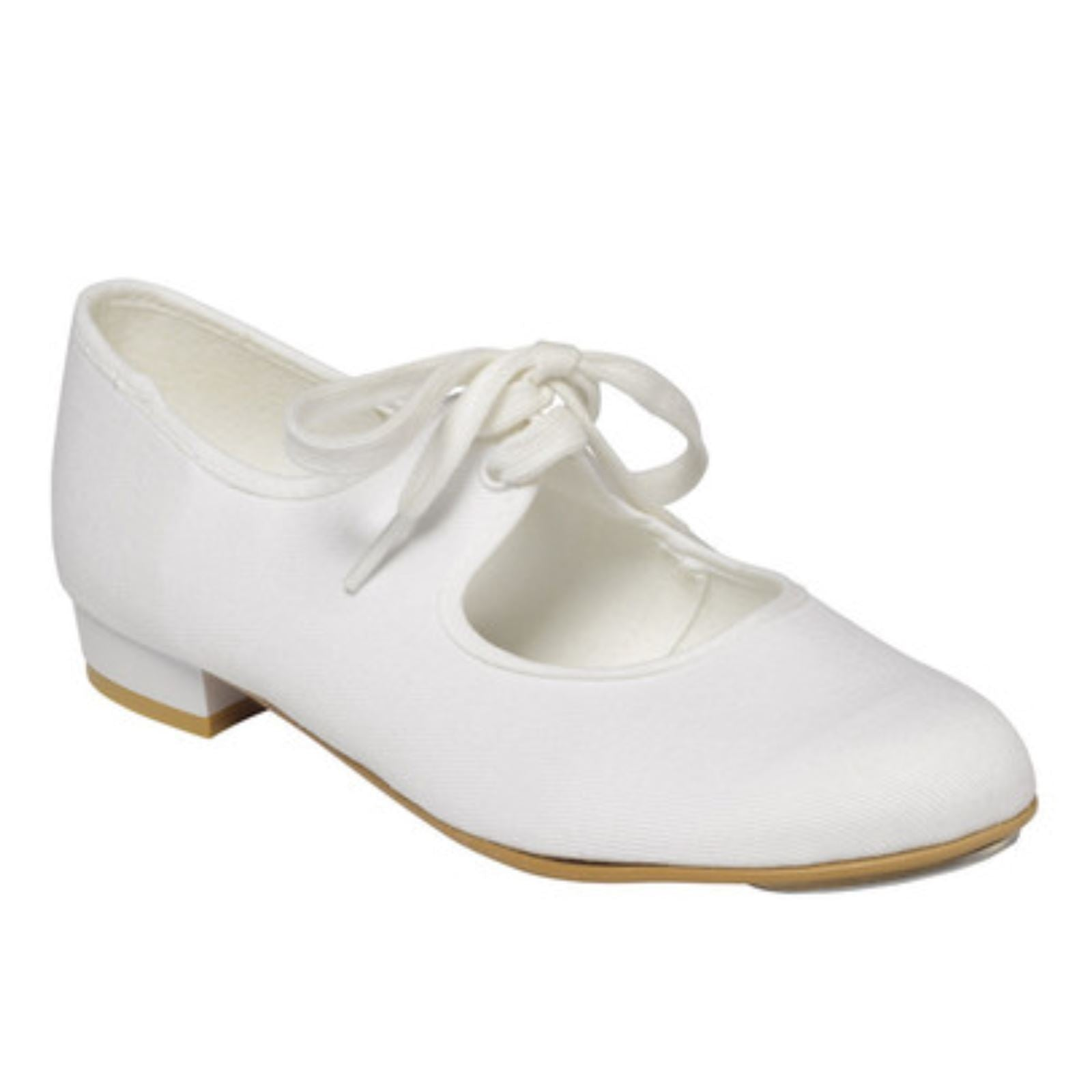 official shop good service new photos TAPPERS & POINTERS WHITE CANVAS LOW HEEL TAP DANCE SHOES - Click ...