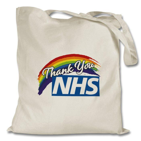 THANK YOU NHS NATURAL TOTE BAG - PROFITS FOR NHS Tote Bag Click Dancewear