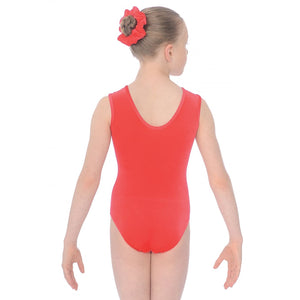 "THE ZONE SPARKLE SLEEVELESS SMOOTH VELVET GYMNASTIC LEOTARD - RED 28"" Gymnastics The Zone"