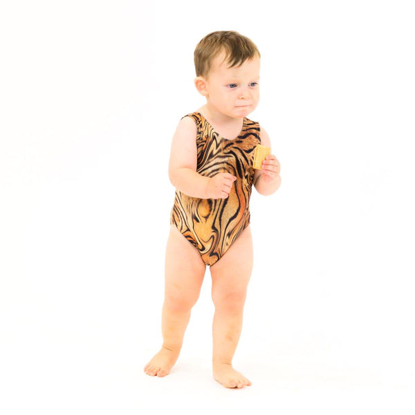 TIGER PRINT - BABY SIZES - PLAIN FRONT LEOTARD Dancewear Dancers World