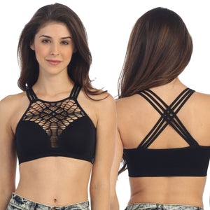 TRIPLE STRAP SEAMLESS HI-STRETCH FESTIVAL STYLE CROP TOP Dancewear Kurve