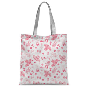 "Tutu Print Classic Tote Bag Accessories Click Dancewear 15""x16.5"" 15""x16.5"""