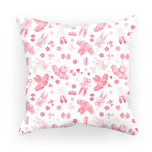 "Tutu Print Cushion Cover Homeware Click Dancewear 17.7""x17.7"" Satin"