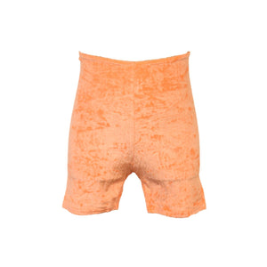 VSAM - VELOUR/VELVET THIGH LENGTH SHORTS Children's Dancewear Dancers World Flo Orange 1 (Age 6-8)