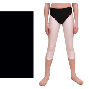 ZOE - HI-CUT DANCE PANTS WITH FULL BACK Children's Dancewear Dancers World Black 00 (Age 2-4)