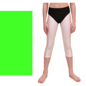 ZOE - HI-CUT DANCE PANTS WITH FULL BACK Children's Dancewear Dancers World Fluorescent Green 00 (Age 2-4)