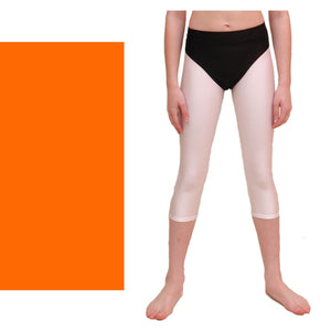 ZOE - HI-CUT DANCE PANTS WITH FULL BACK Children's Dancewear Dancers World Fluorescent Orange 00 (Age 2-4)