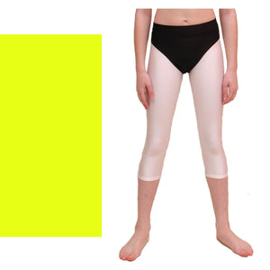 ZOE - HI-CUT DANCE PANTS WITH FULL BACK Children's Dancewear Dancers World Fluorescent Yellow 00 (Age 2-4)
